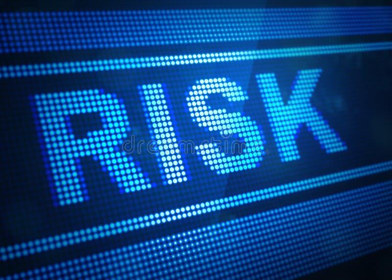 3d illustratie van het risico de digitale scherm vector illustratie