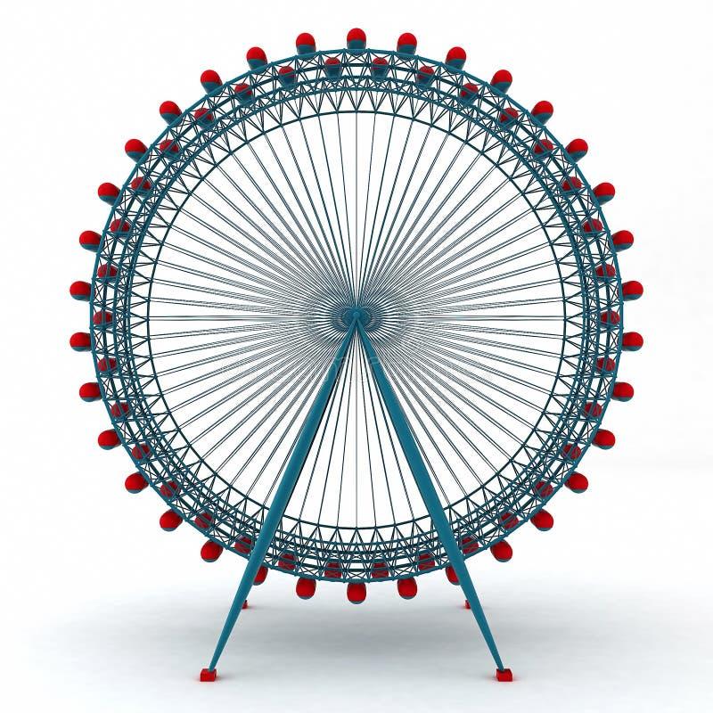 3D Illustratie van Kleurrijke Dubbele Carrousel stock illustratie