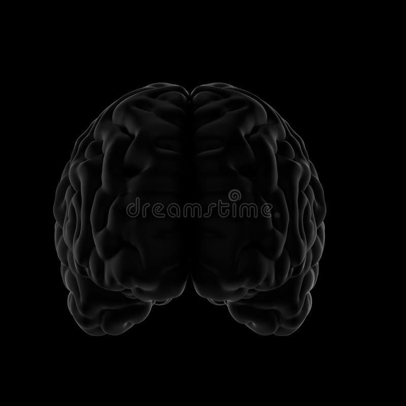 3D illustratie van Menselijke Hersenen Zwarte achtergrond royalty-vrije illustratie