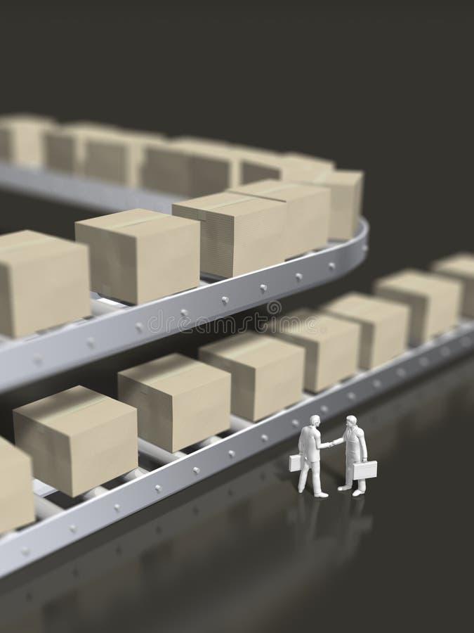 3D illustratie van pakketlevering royalty-vrije illustratie