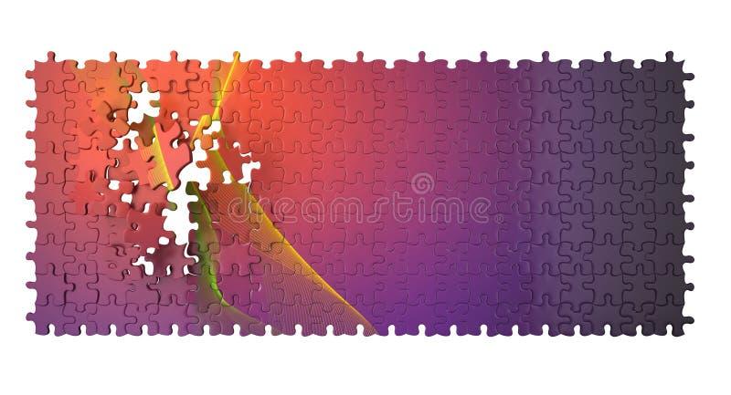 3d illustratie van raadsel vector illustratie