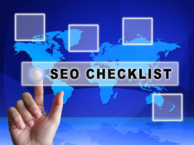 3d Illustratie van Seo Checklist Web Site Report royalty-vrije illustratie