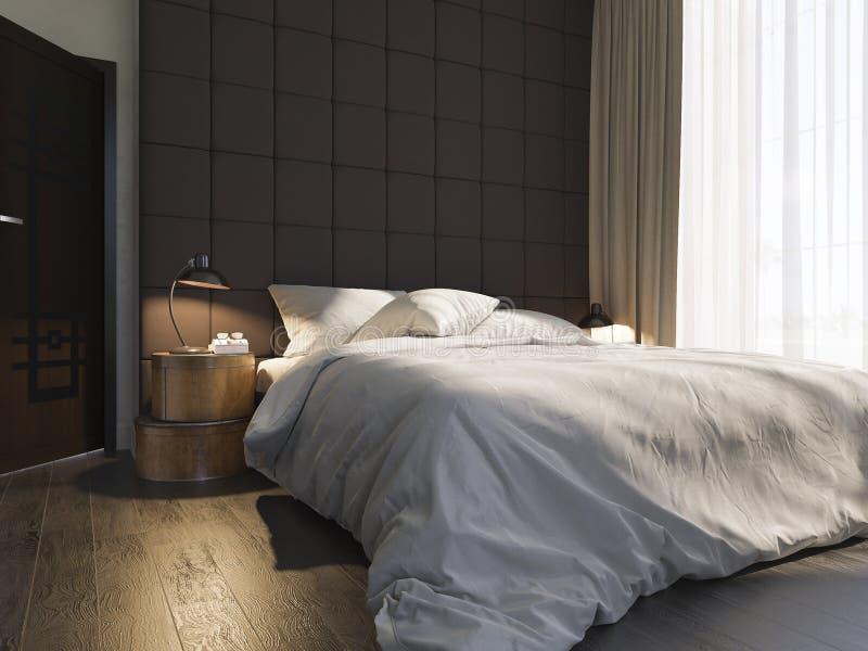 3d illustratie van slaapkamer binnenlands ontwerp vector illustratie