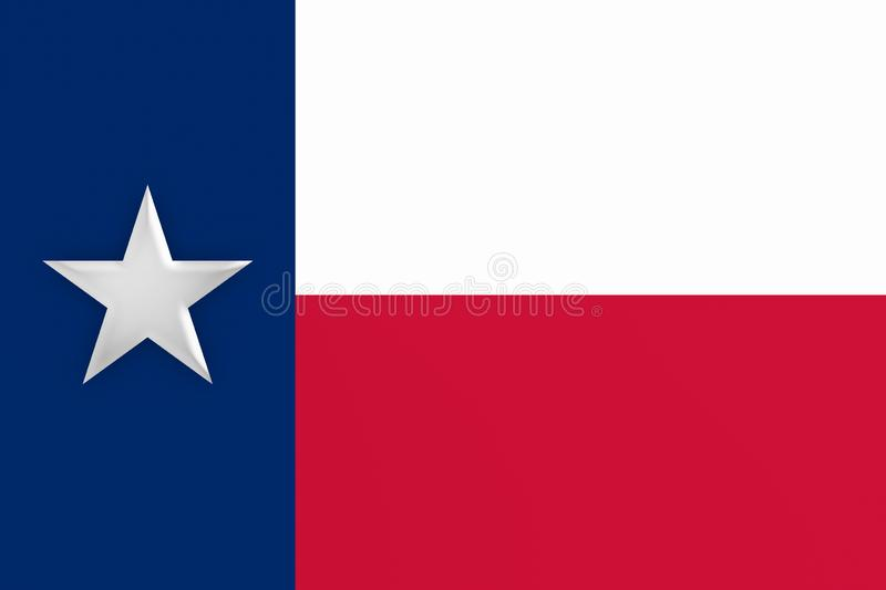 3d illustratie van Texas Flag stock illustratie