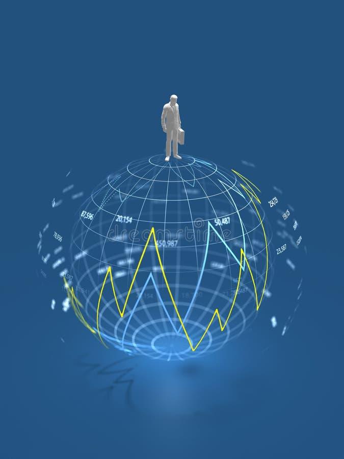 3D illustratie van wereldmarkt royalty-vrije illustratie