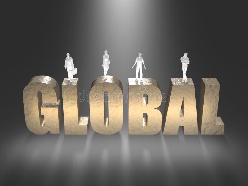 3D illustratie van wereldnorm royalty-vrije illustratie