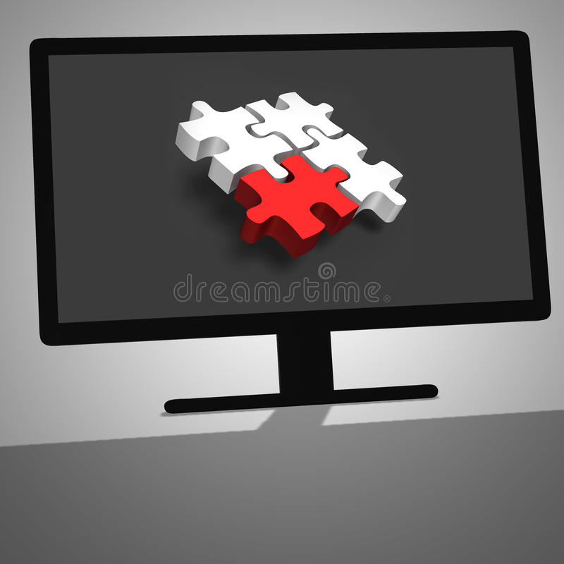 Download 3d Illustratie Van Zwarte Bureaucomputer Stock Afbeelding - Afbeelding bestaande uit elektronika, vertoning: 54081227
