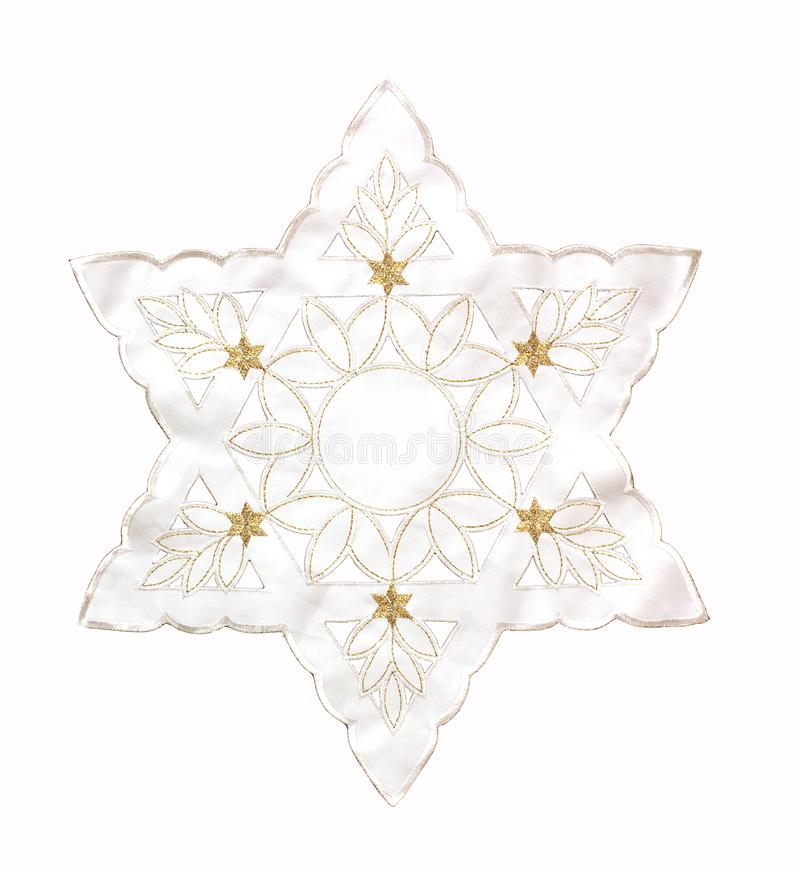 3D illustratie Witte Jodenster op een witte achtergrond royalty-vrije stock afbeeldingen