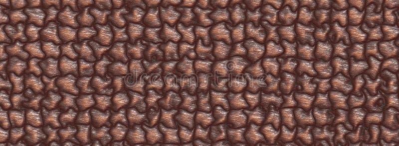3d illustration Abstract Metallic Sofa Leather royalty free illustration
