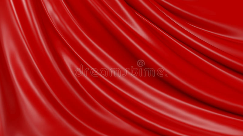 3D Illustration Abstract Red Background Cloth stock illustration