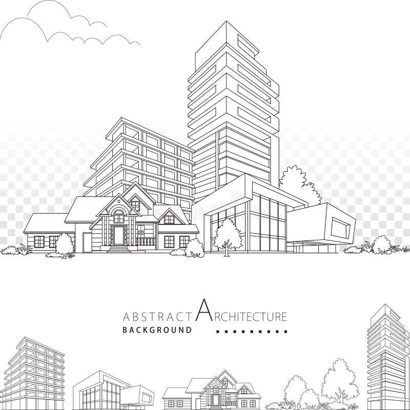 3D illustration Architecture Building Decorative Design. stock photo