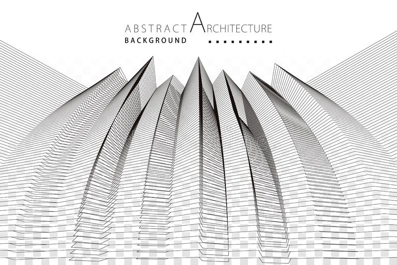 3D illustration Architecture Construction Abstract Background. royalty free stock photo