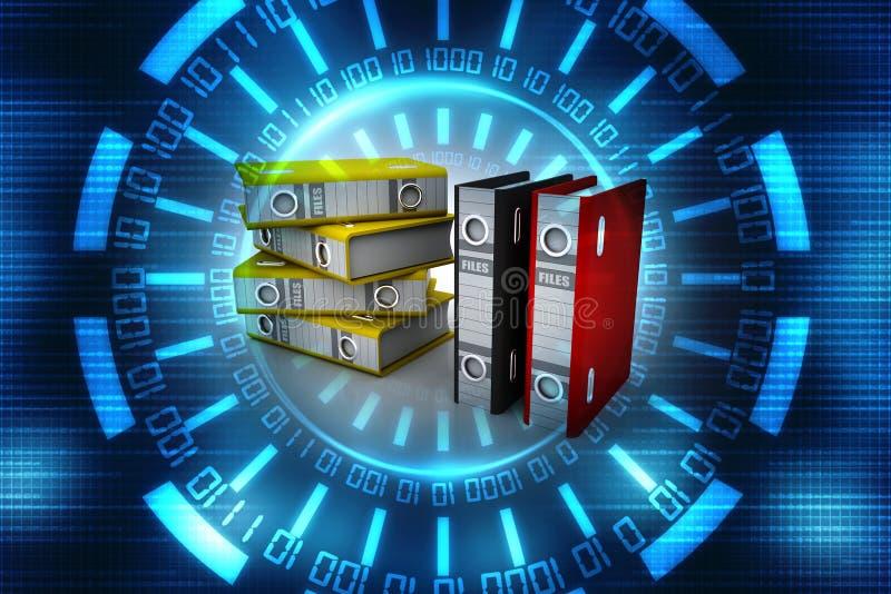3d illustration of archive folders stack vector illustration