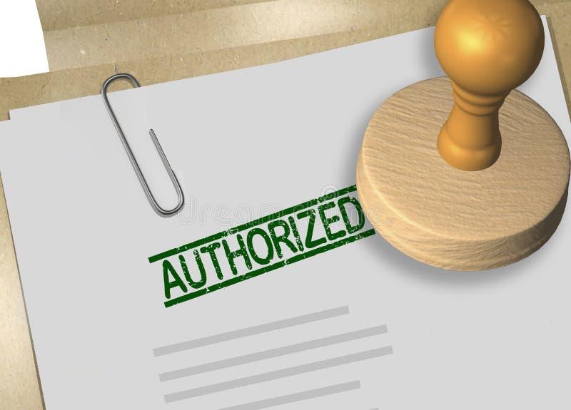 AUTHORIZED - authorization concept royalty free illustration