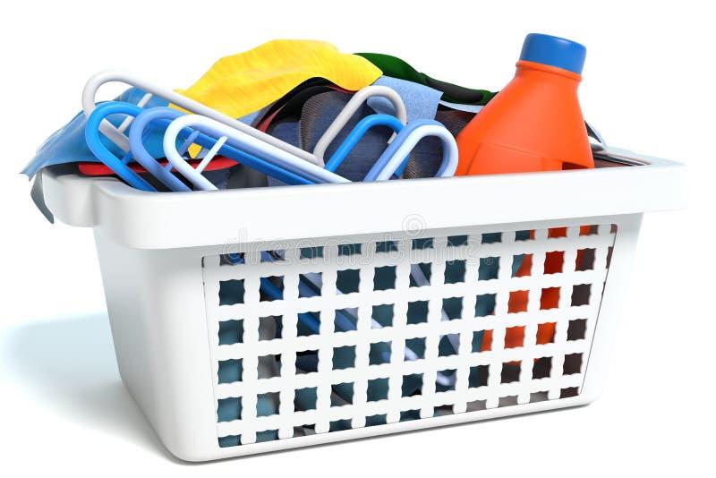 Basket of Clothes. 3d illustration of a basket of clothes vector illustration