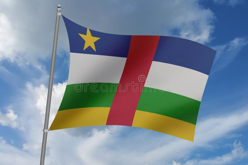 3D illustration Beautiful Central African Republic waving flag.  vector illustration