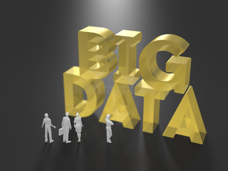 3D illustration of big data utilization royalty free illustration
