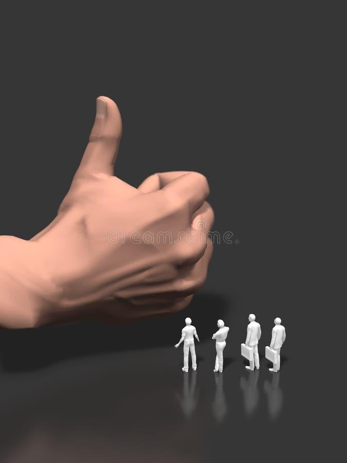 3D illustration of big hands stock illustration