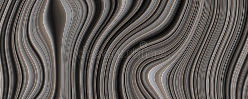 3D Illustration Black Curve Abstract Background vector illustration