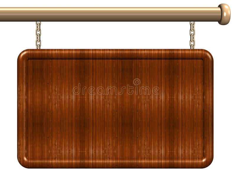 Wooden sign royalty free illustration
