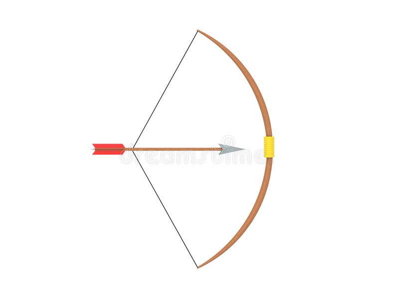 3d Illustration Of Bow And Arrow Stock Illustration Illustration