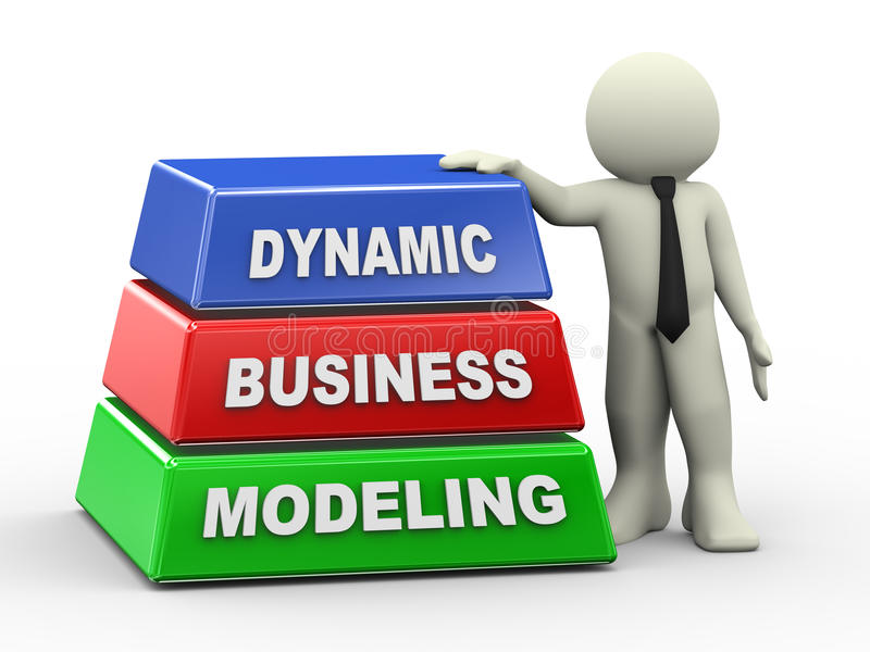 Download 3d Man And Dynamic Business Modeling Stock Illustration - Image: 30084309