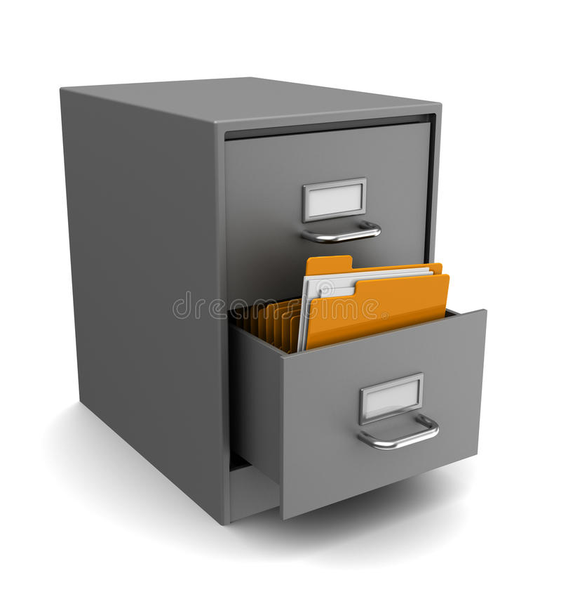 Cabinet with folders vector illustration