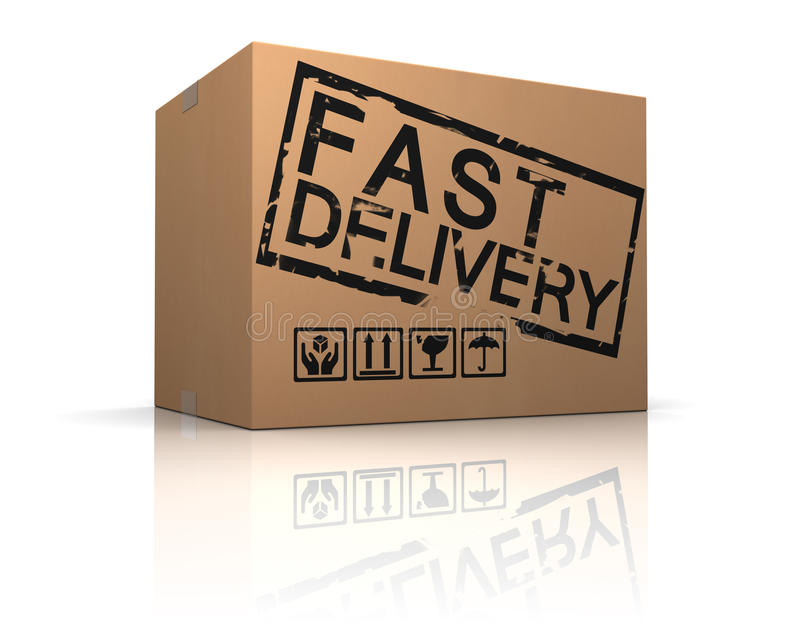 Fast delivery box royalty free illustration
