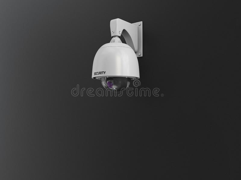 3d Illustration of CCTV camera digital video recorder, security system concept.  stock images