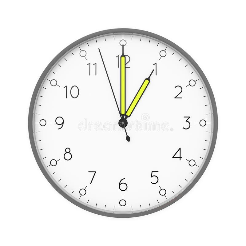 a clock shows 1 o 'clock vector illustration