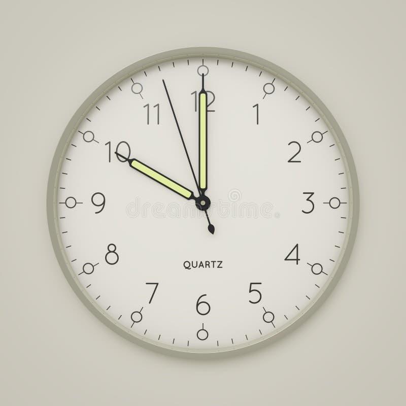 a clock shows 10 o 'clock vector illustration