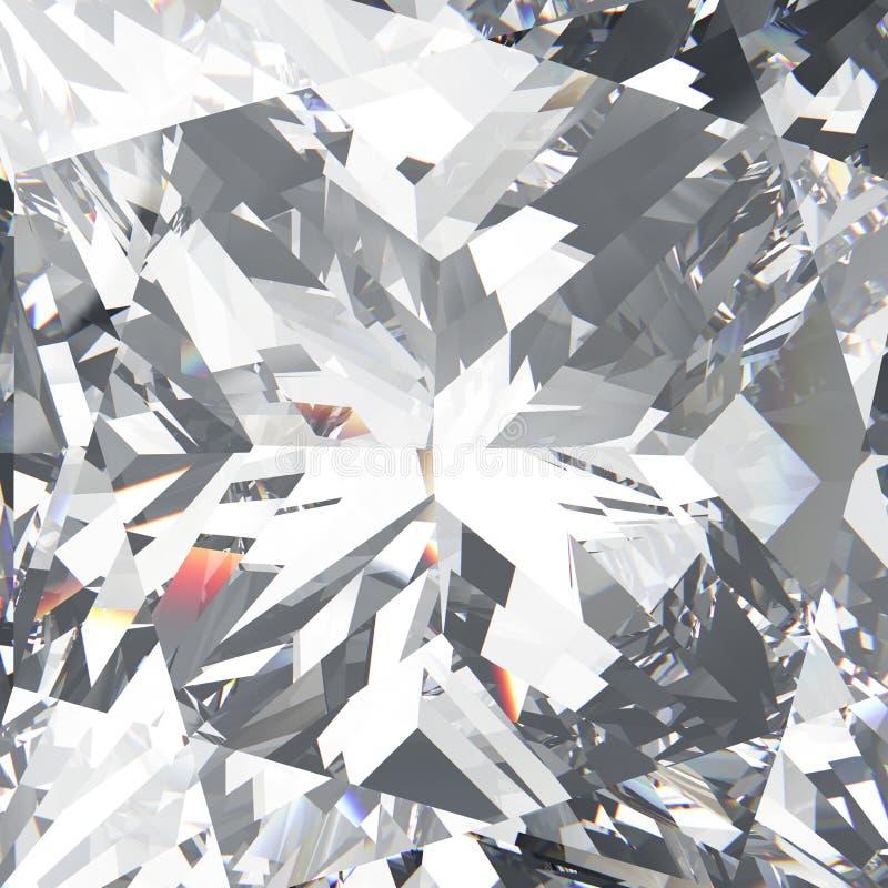 3D illustration closeup crop diamond texture macro zoom royalty free illustration