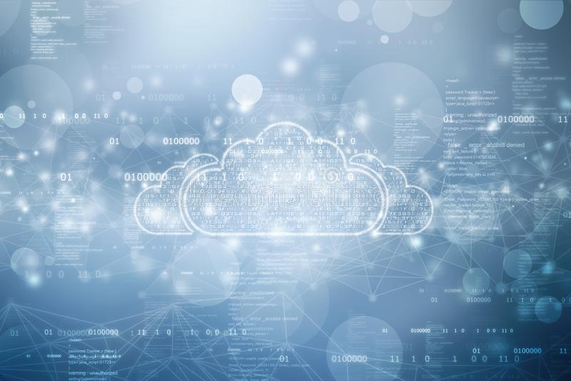Cloud Computing Concept, Cloud computing technology internet concept background. 2d illustration of  Cloud computing, Cloud Computing Concept, Cloud computing vector illustration