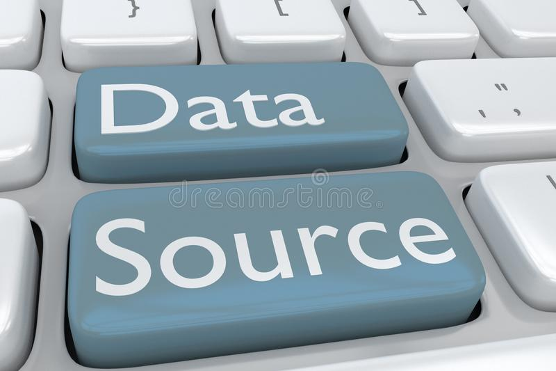 Data Source concept vector illustration