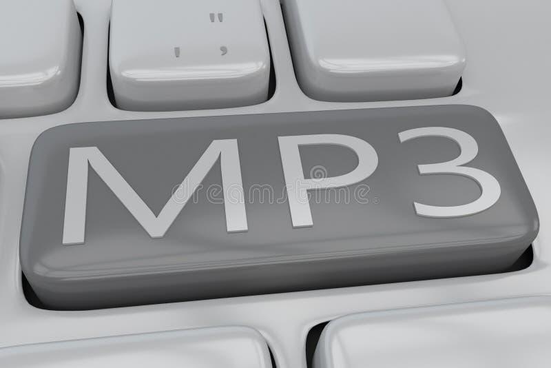 MP3 - technological concept vector illustration