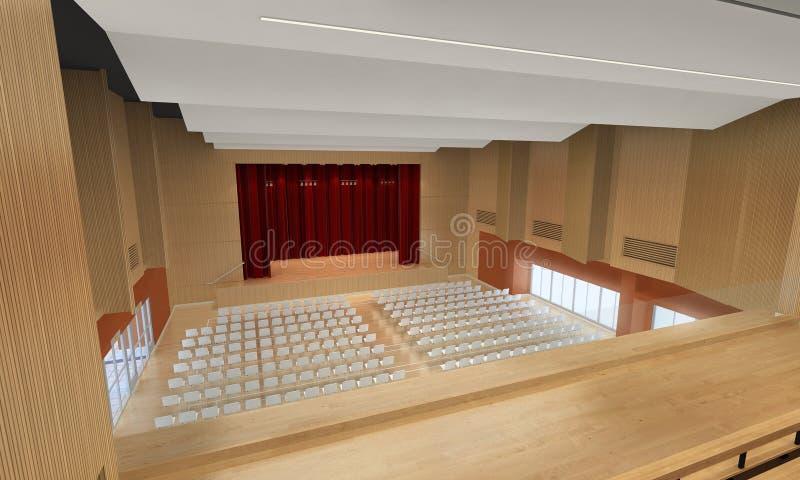 3d illustration of a conference center vector illustration