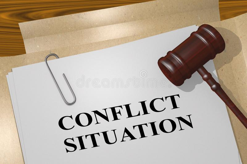 CONFLICT SITUATION concept vector illustration