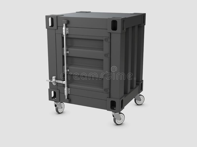 3D illustration of container cabinet isolated white royalty free illustration