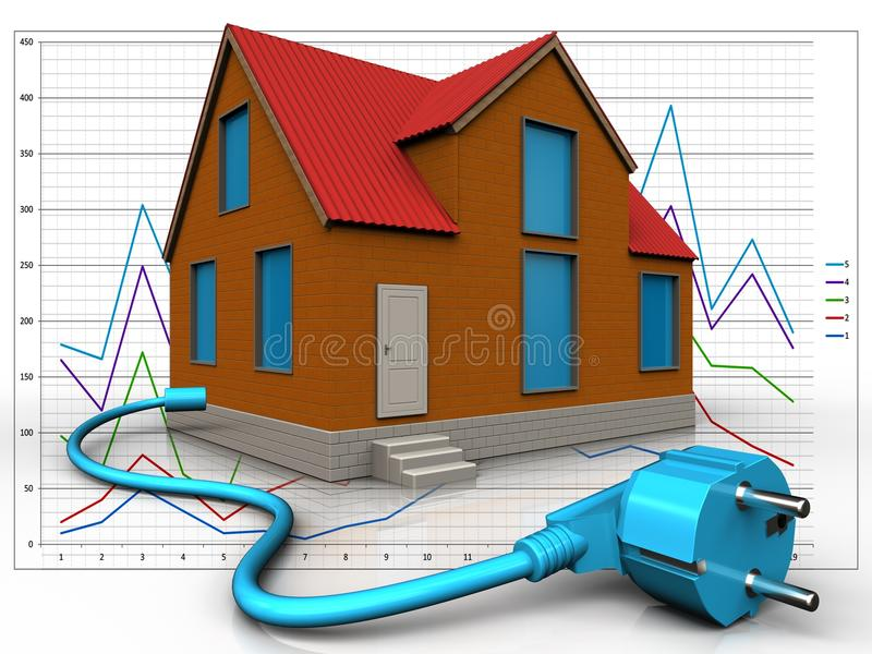 3d cable over diagram vector illustration