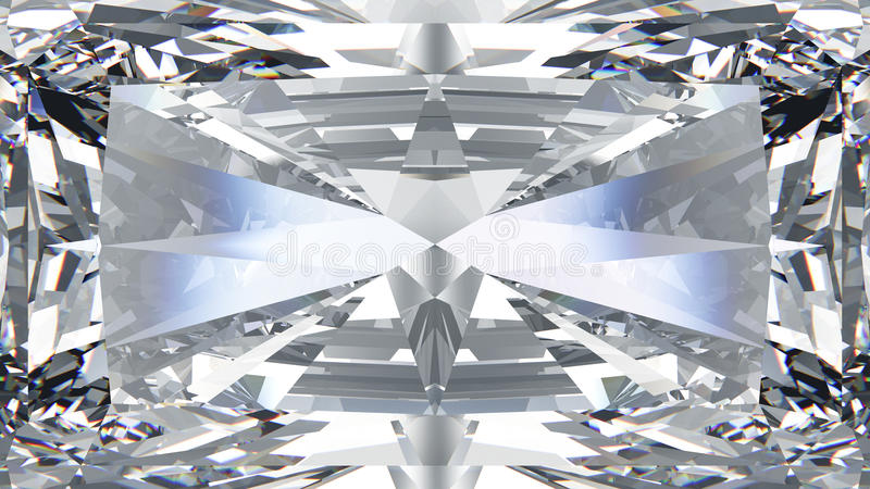 3D illustration crop diamond macro zoom vector illustration