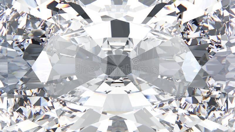 3D illustration crop diamond texture macro vector illustration