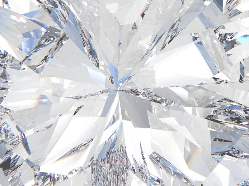 3D illustration crop diamond zoom vector illustration