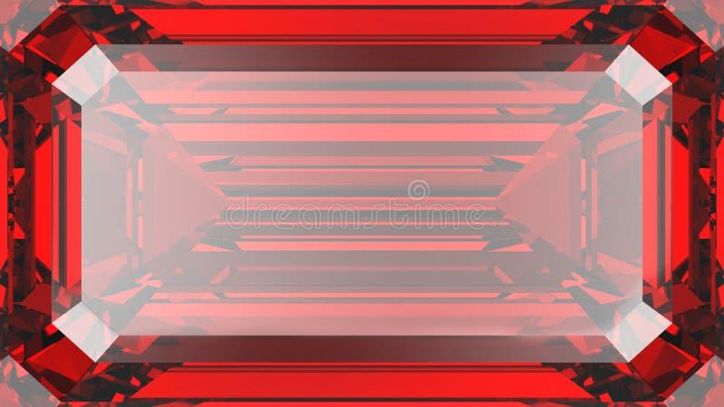 3D illustration crop ruby diamond texture macro zoom vector illustration
