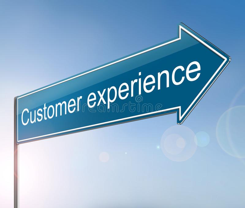 Customer experience concept. royalty free illustration