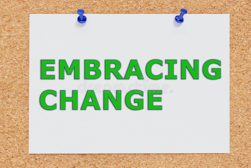 Embracing Change concept stock illustration