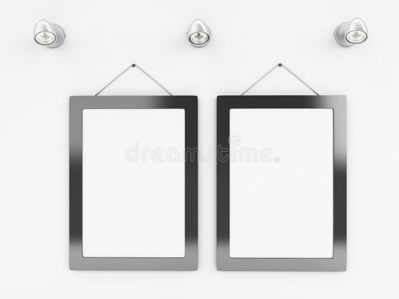 3d Empty Frames Template With Place For Your Text And Design Stock ...