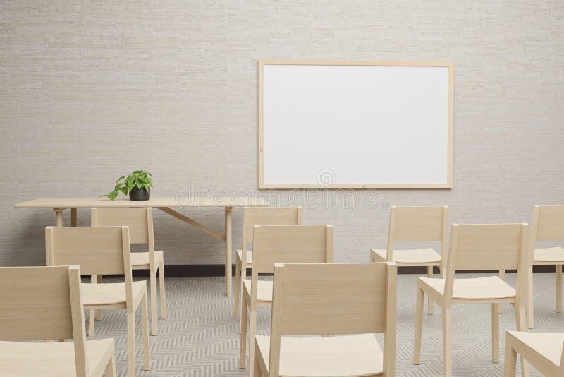 Whiteboard In Room Stock Illustration  Illustration Of