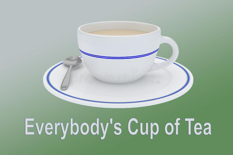 Everybody`s Cup of Tea concept vector illustration
