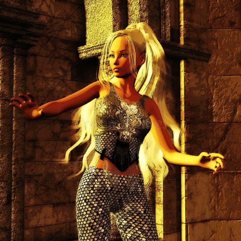 3D Illustration of a Fantasy Woman. Digital Model royalty free illustration