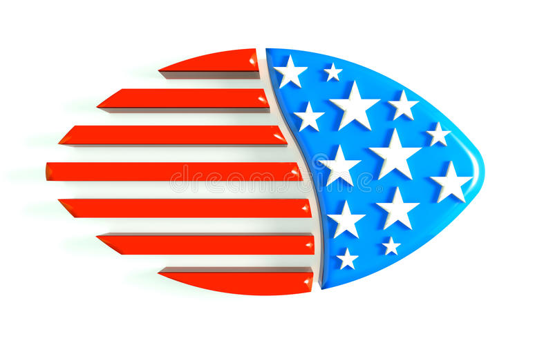 3D Illustration Football USA Logo royalty free stock photography